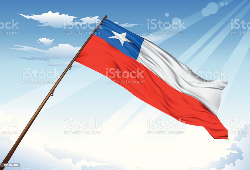 Chile Flag royalty-free stock vector art