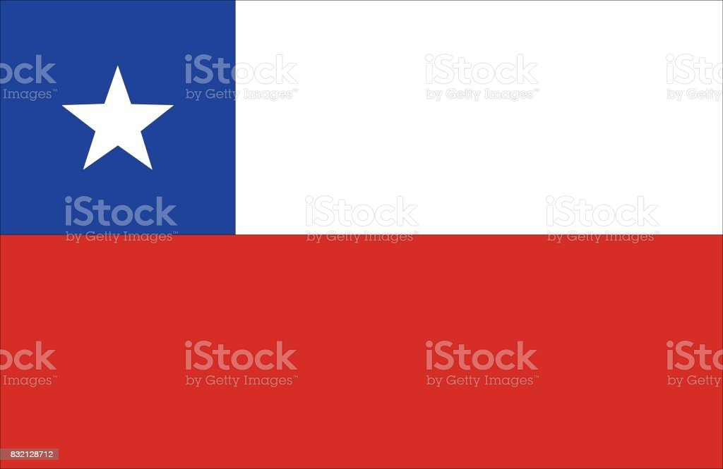 Chile flag vector art illustration