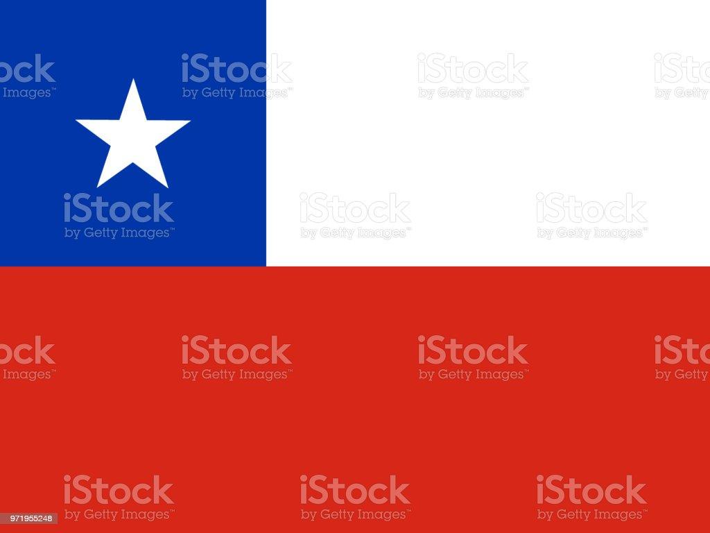 チリの国旗 ベクターアートイラスト