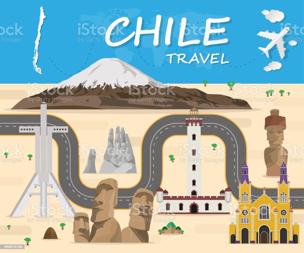 chile Landmark Global Travel And Journey Infographic Vector Design Template.vector illustration. vector art illustration