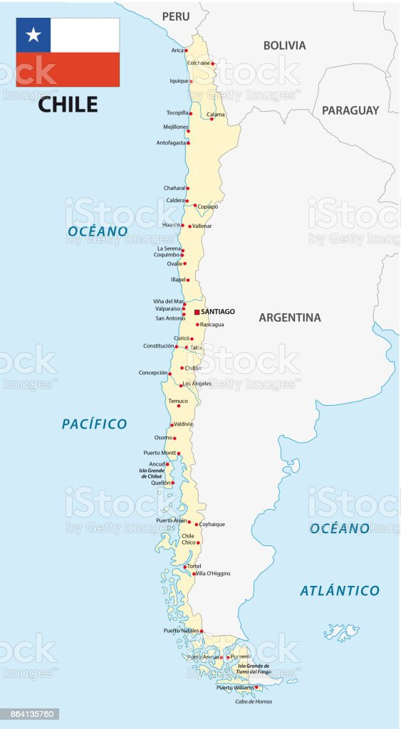 chile map with flag royalty-free chile map with flag stock vector art & more images of argentina