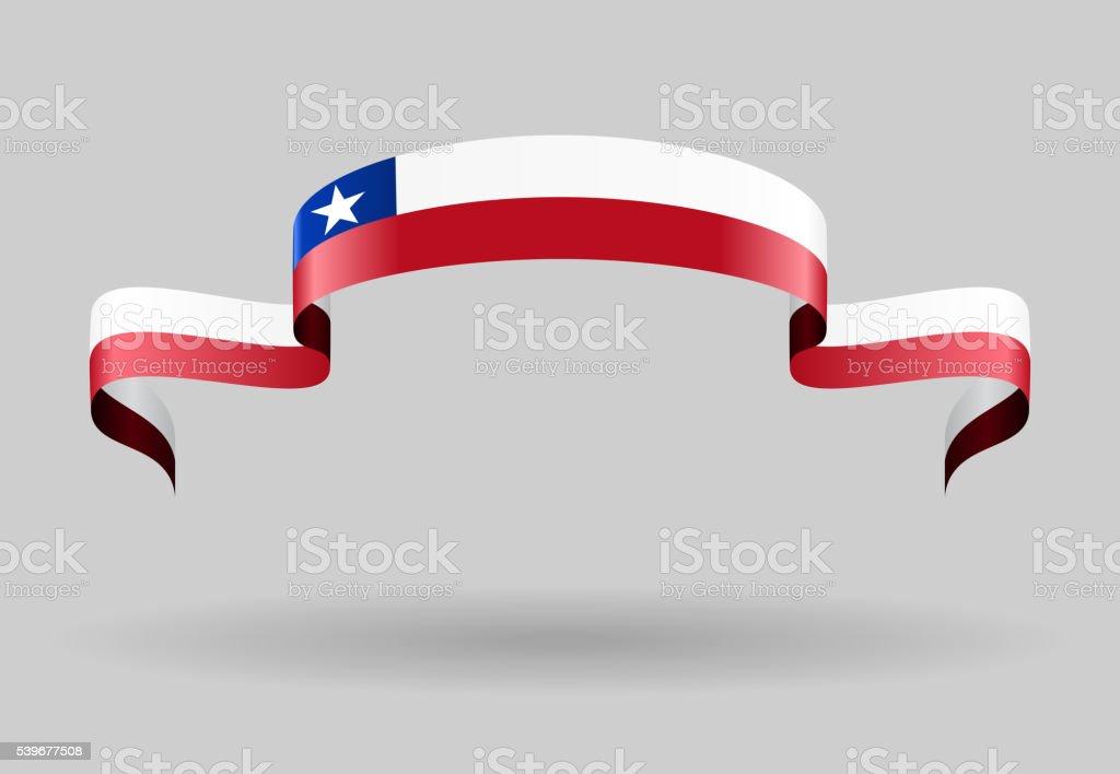Chilenische Flaggen-Hintergrund. Vektor-illustration. – Vektorgrafik