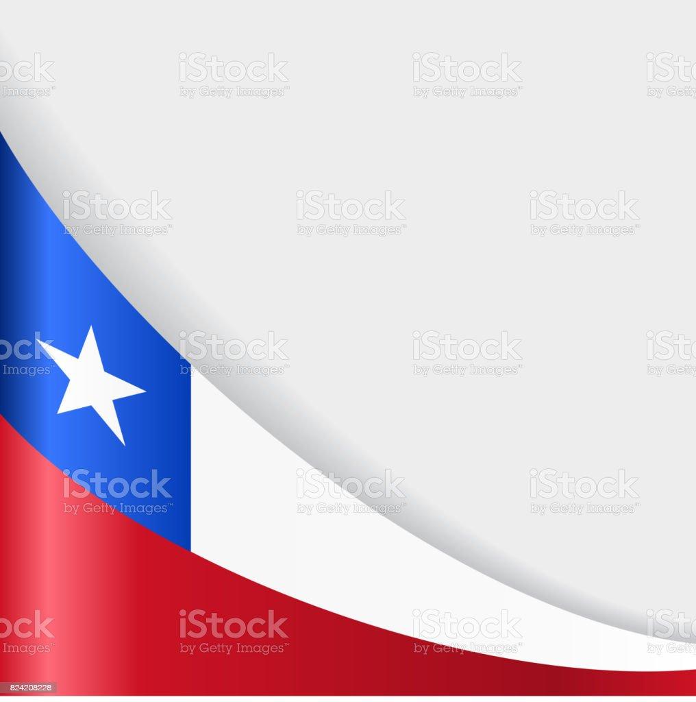 チリ旗の背景ます。ベクトルイラストレーションます。 ベクターアートイラスト
