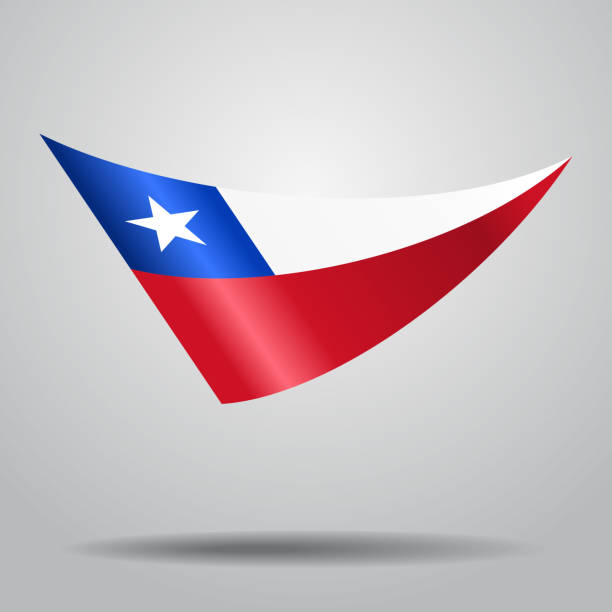 chilean flag background. vector illustration. - chile flag stock illustrations, clip art, cartoons, & icons
