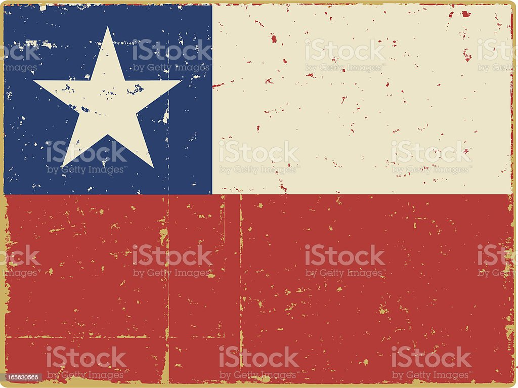 Bandera chilena - ilustración de arte vectorial