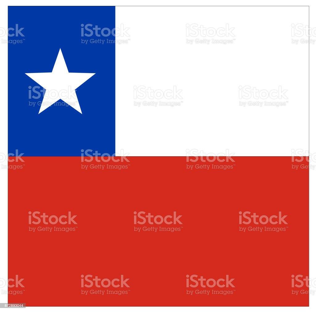Chilean flag vector art illustration