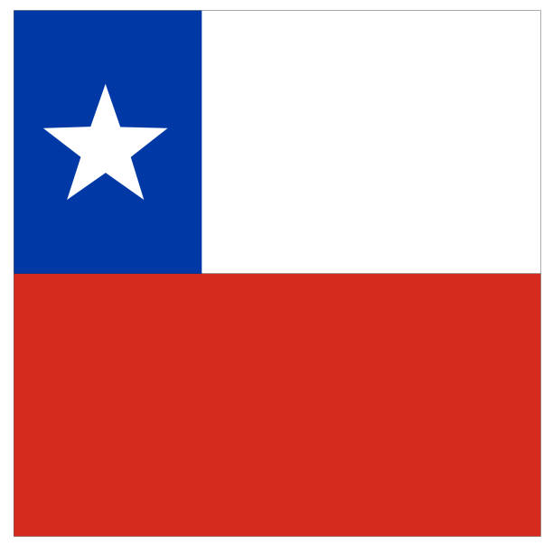 chilean flag - chile flag stock illustrations, clip art, cartoons, & icons