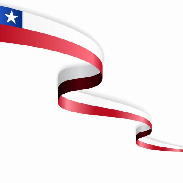 ilustraciones, imágenes clip art, dibujos animados e iconos de stock de bandera chilena fondo abstracto ondulado. ilustración vectorial. - bandera de chile
