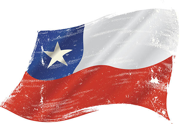 chilean grunge flag - chile flag stock illustrations, clip art, cartoons, & icons