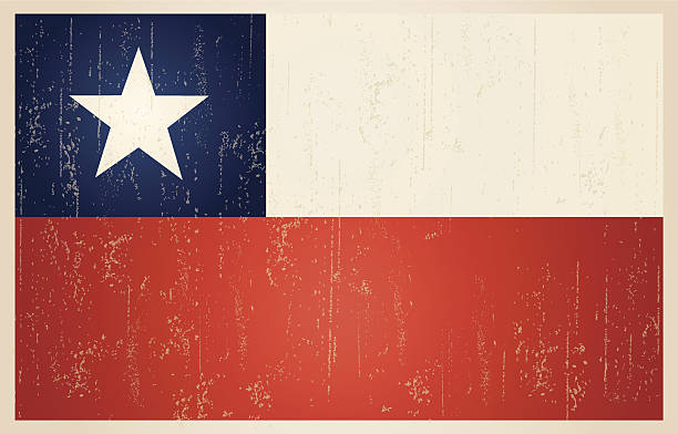 chilean grunge vintage flag - chile flag stock illustrations, clip art, cartoons, & icons