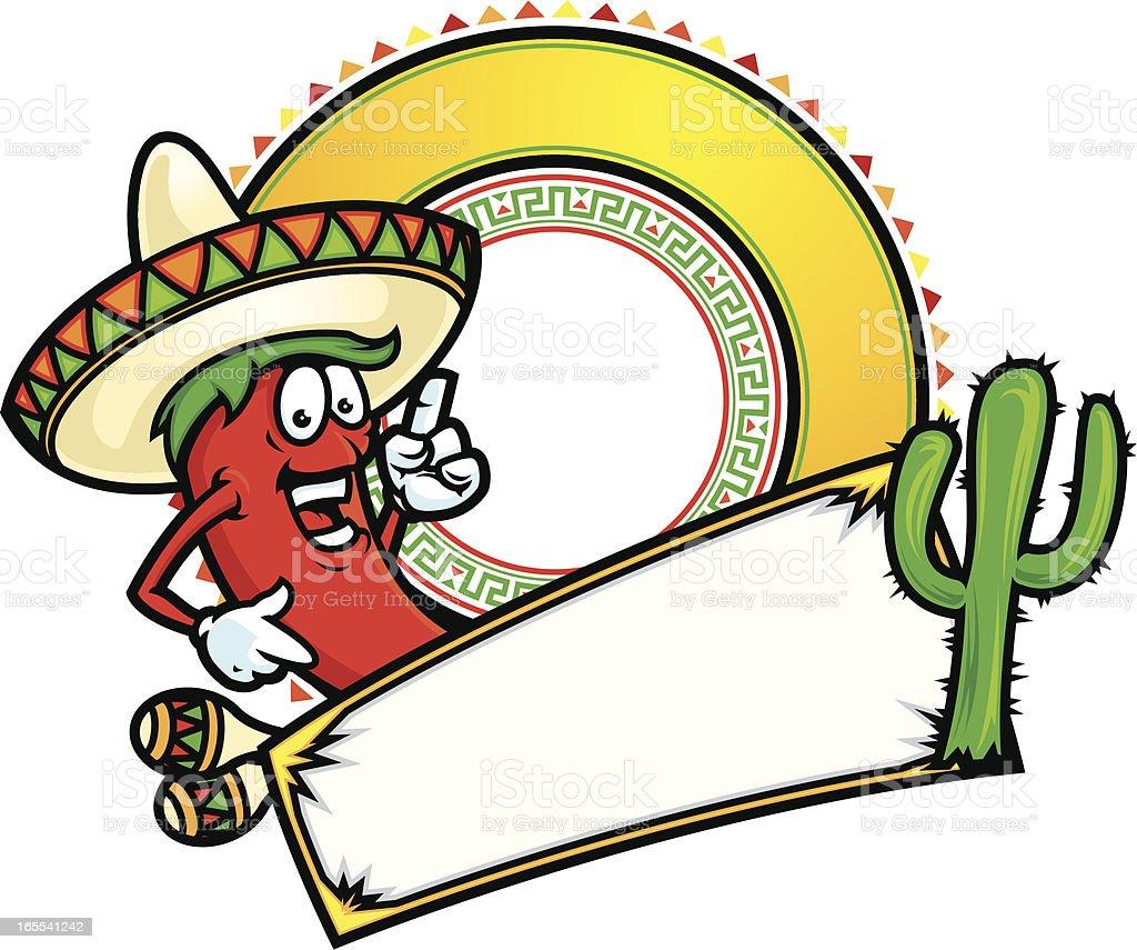 Chili Pepper banner vector art illustration