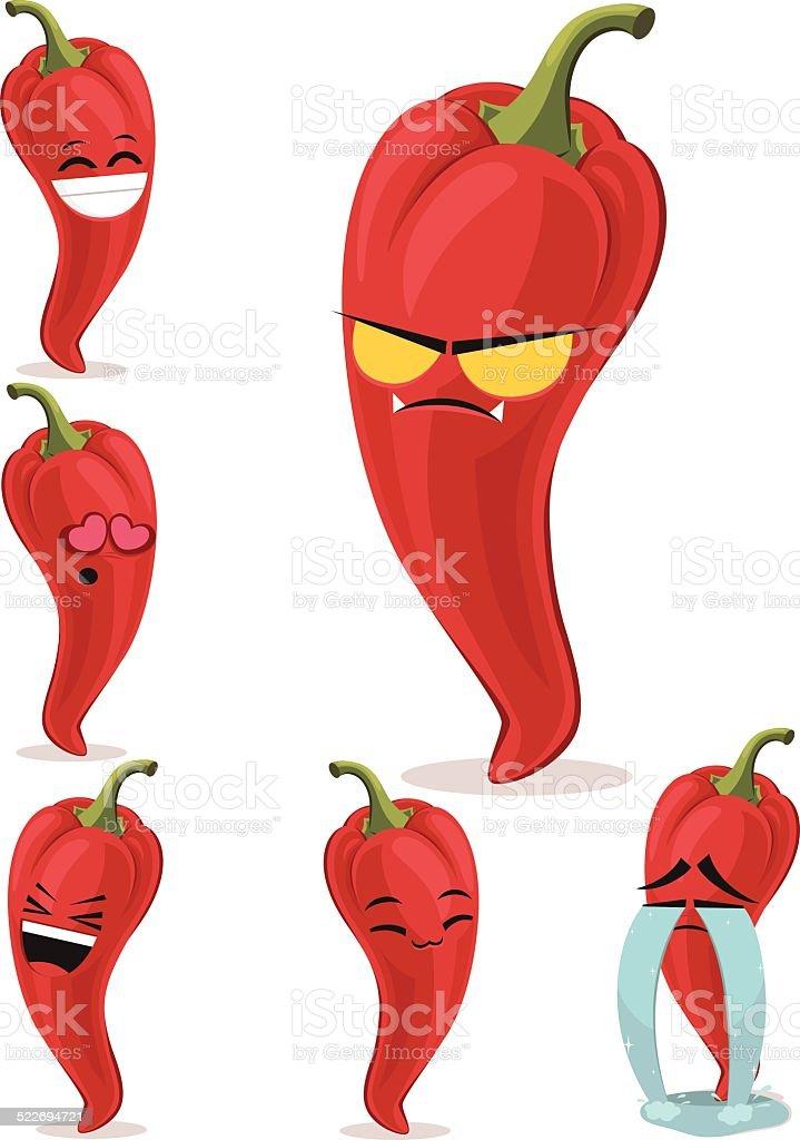 Chili Bilder chili set b stock vektor und mehr bilder