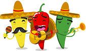 Chili Pepper Mariachi Mariachilis vector illustration.