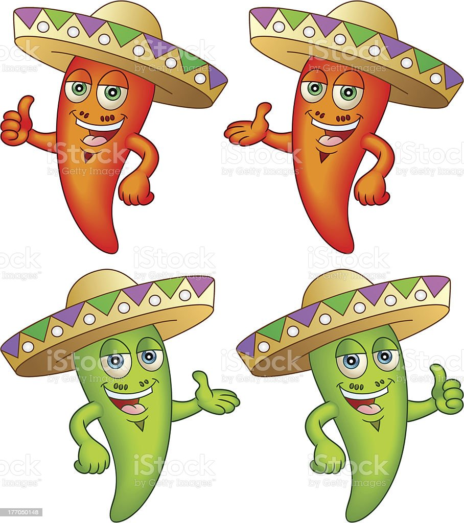 Chili Peppers in Hats royalty-free chili peppers in hats stock vector art & more images of anthropomorphic