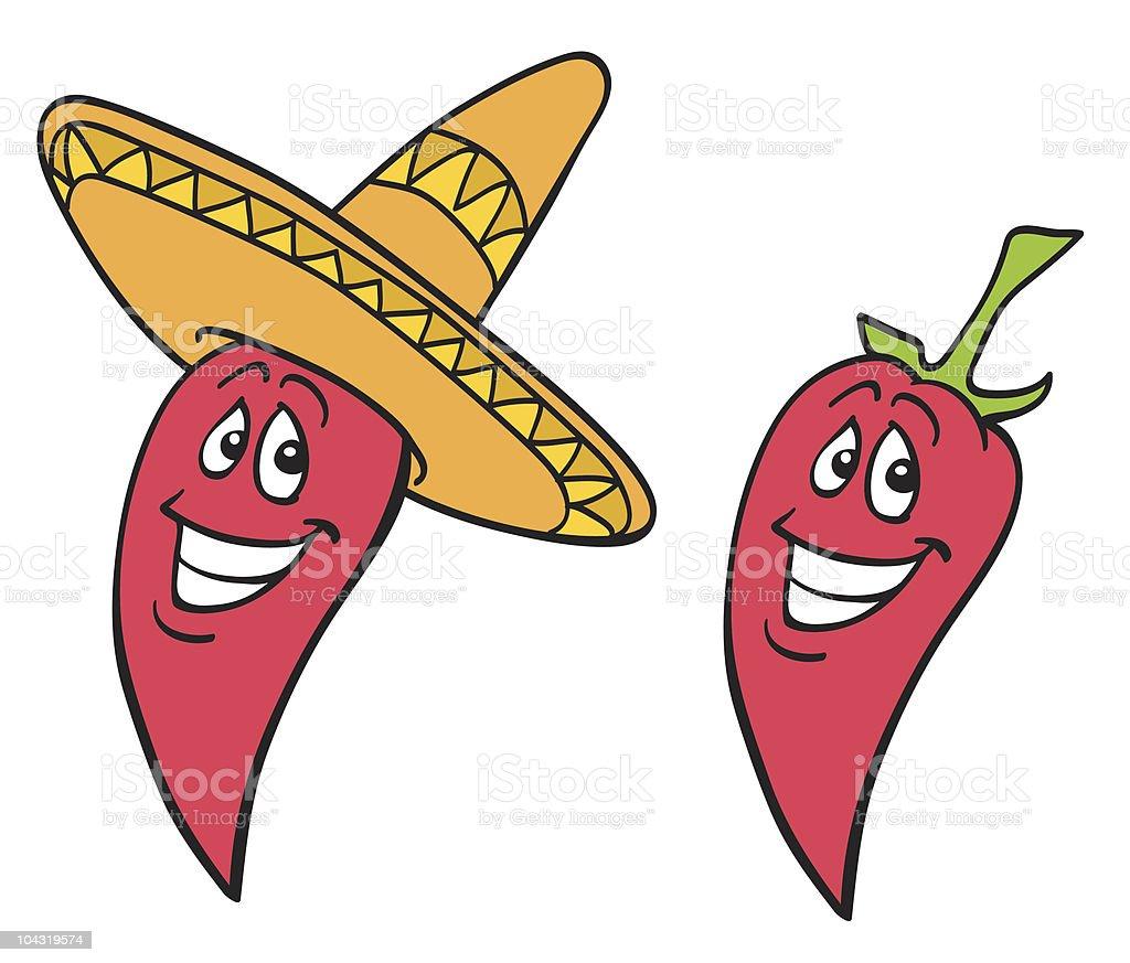 Chili Peppers vector art illustration