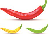 vector file of chili peppers, eps10, transparency used.