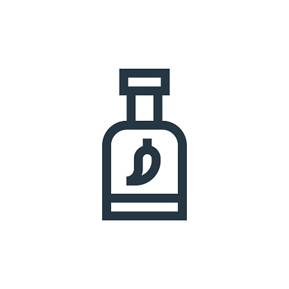 chili sauce icon vector from cinco de mayo concept. Thin line illustration of chili sauce editable stroke. chili sauce linear sign for use on web and mobile apps, logo, print media..