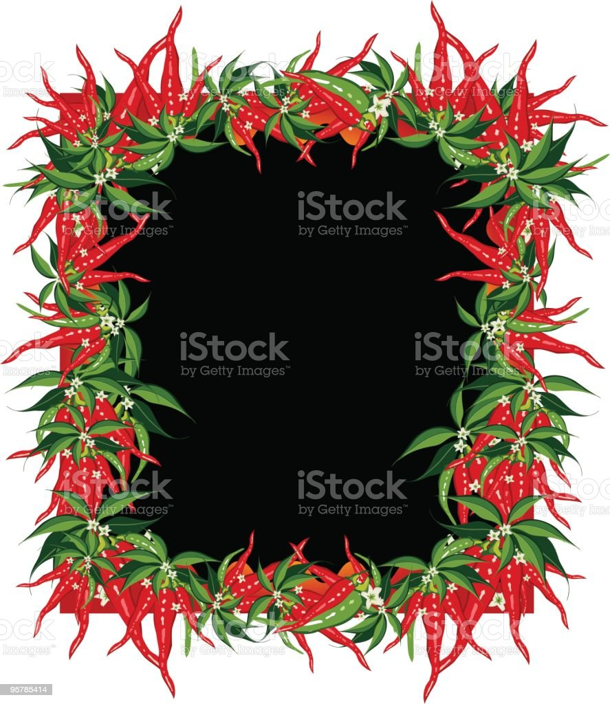 Chilie Pepper frame royalty-free stock vector art
