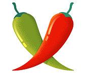 Chilli and jalapeno