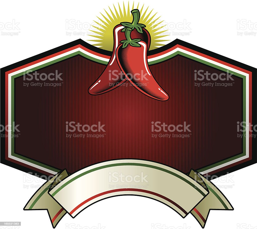chilli frame label royalty-free stock vector art