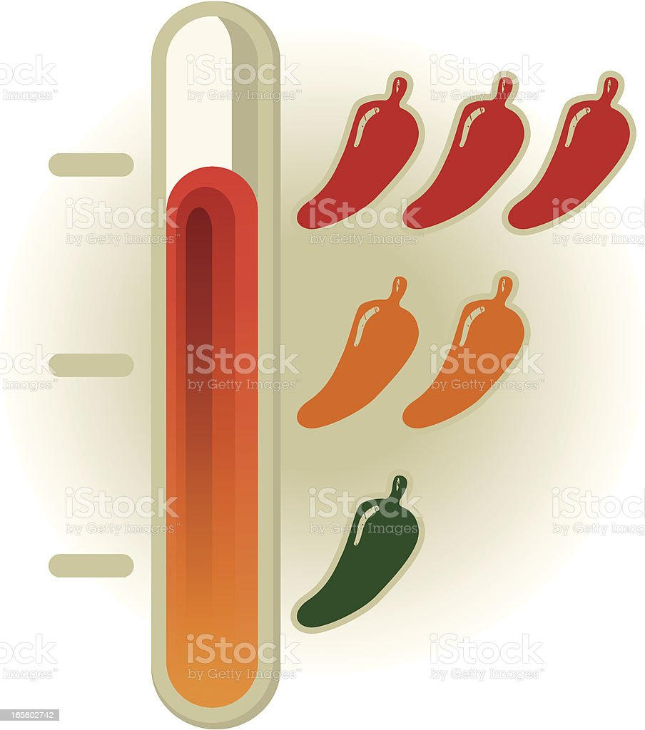 chilli gradient royalty-free stock vector art