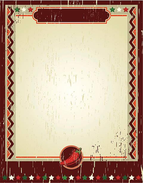 チリグランジのポスター - メキシコ料理点のイラスト素材/クリップアート素材/マンガ素材/アイコン素材