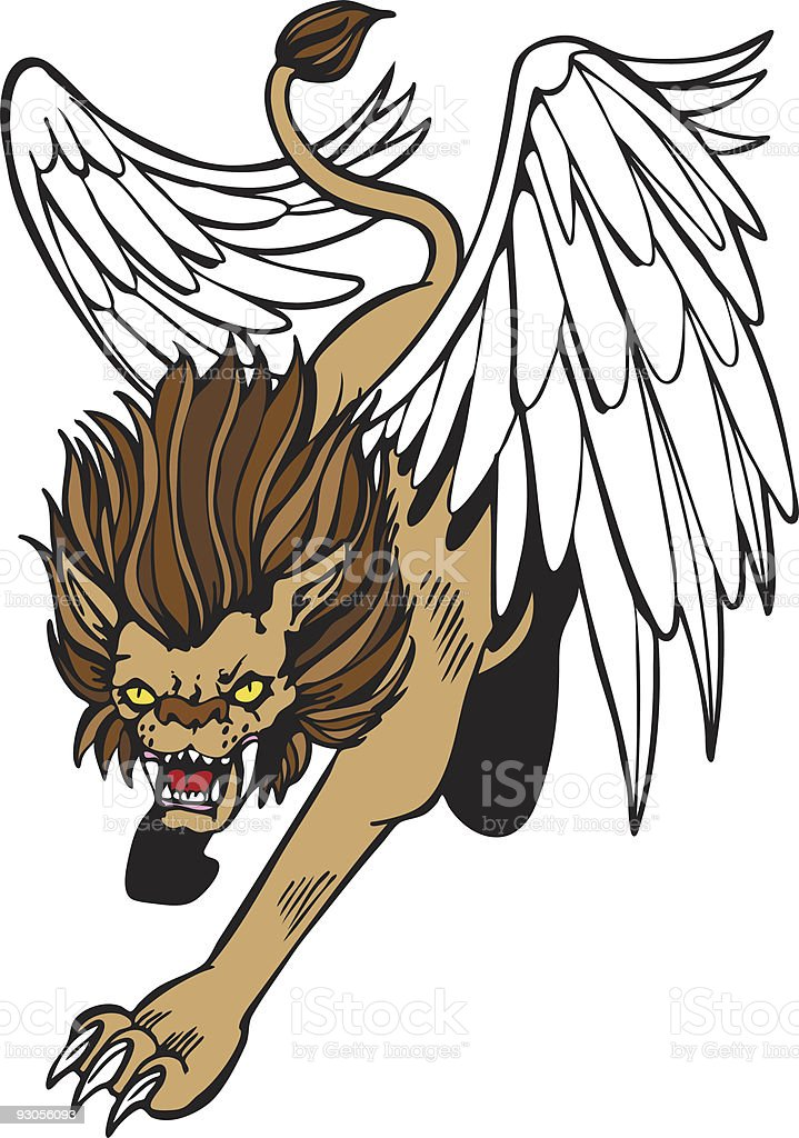 Chimera Winged Lion royalty-free stock vector art