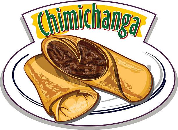 chimichanga vektor - chimichanga stock-grafiken, -clipart, -cartoons und -symbole