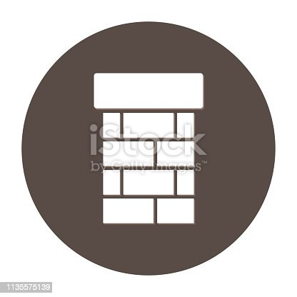 Chimney icon. Vector illustration, simple design, flat style. - Vector