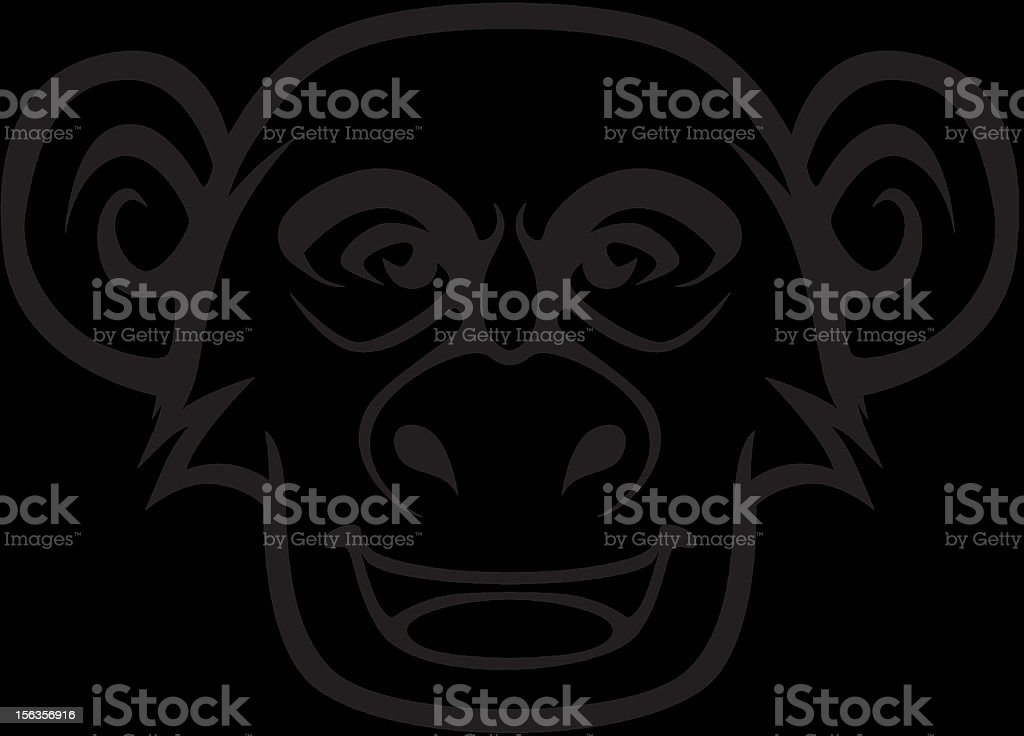 Chimpanzee Vector Illustration royalty-free stock vector art
