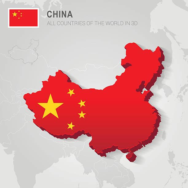 china. asia administrative map. - china map stock illustrations, clip art, cartoons, & icons