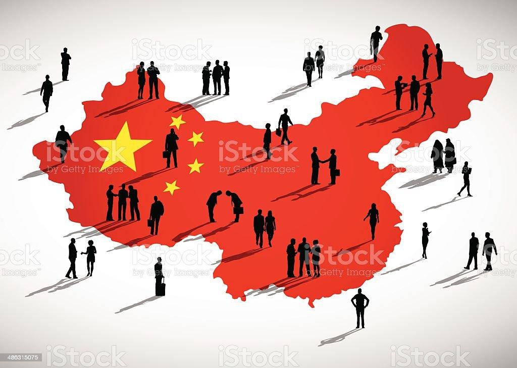 China Business vector art illustration