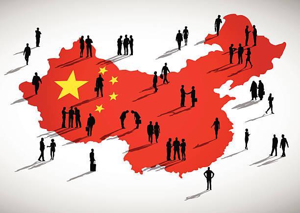 China Business China Business chinese yuan note stock illustrations