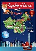 Vector China Cartoon Map