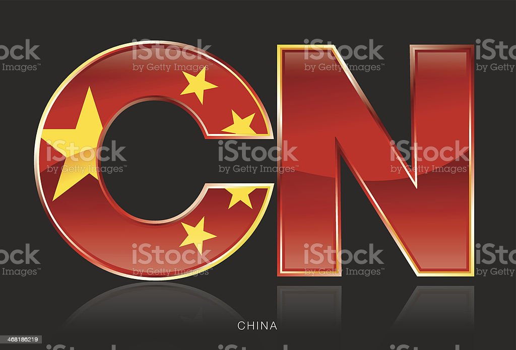 China - CN royalty-free china cn stock vector art & more images of china - east asia