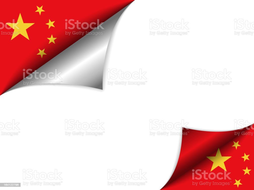 China Country Flag Turning Page royalty-free stock vector art