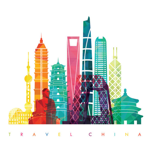 China detailed skyline. Vector illustration - Illustration vectorielle
