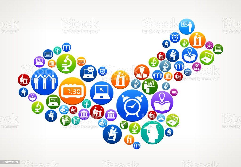 La Chine E-learning et Collège enseignement Vector bouton Pattern la chine elearning et collège enseignement vector bouton pattern – cliparts vectoriels et plus d'images de apprentissage libre de droits
