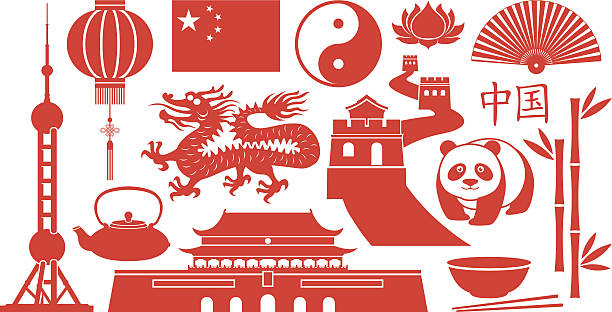 china famous icons - chinese food stock illustrations, clip art, cartoons, & icons