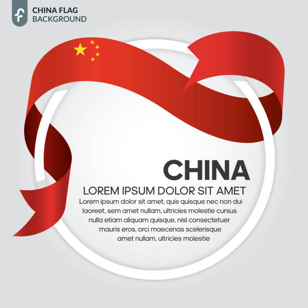 China flag background China, flag, country, background, culture american pekin duck stock illustrations