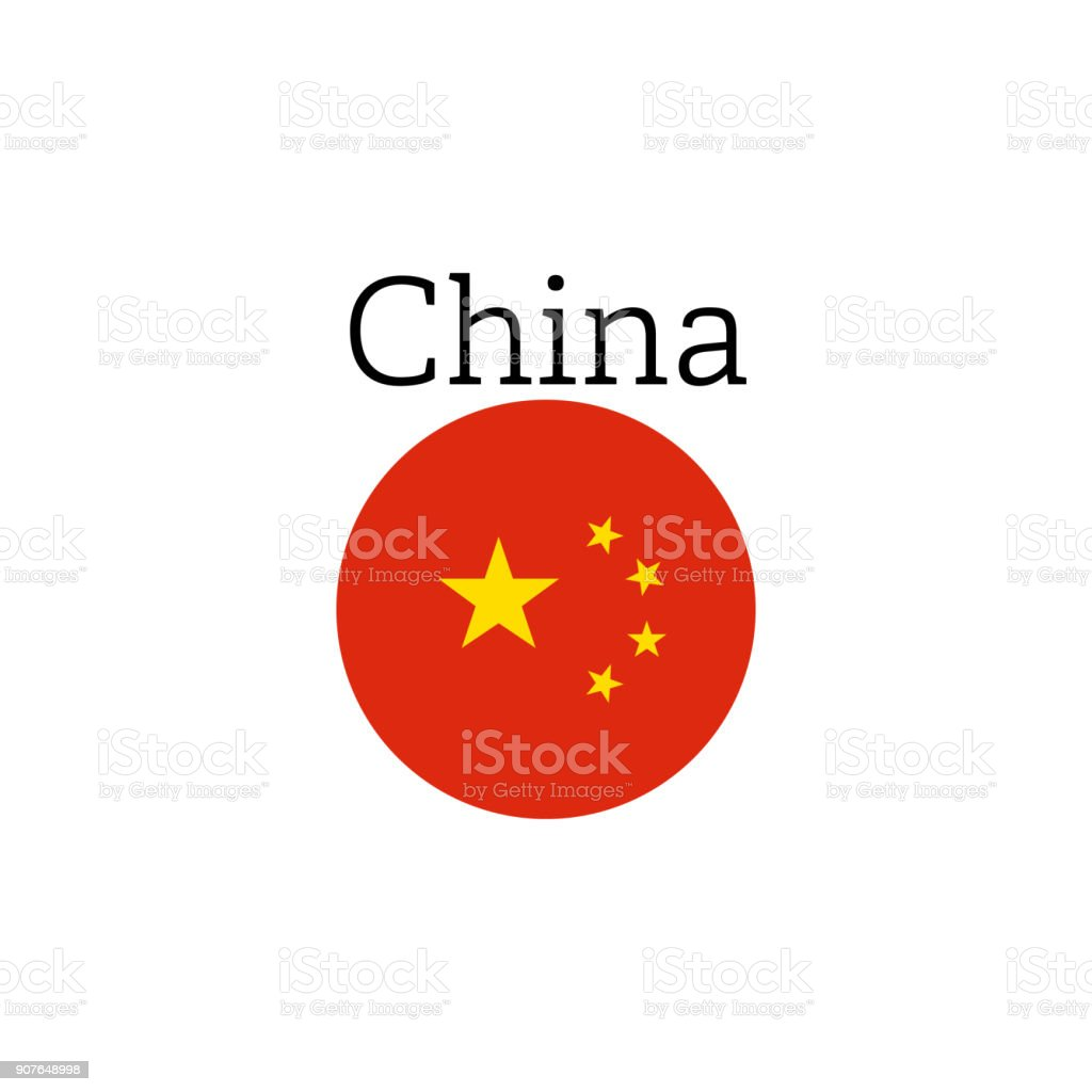 China Flag Icon Round Vector Illustration Icon Stock Illustration Download Image Now Istock