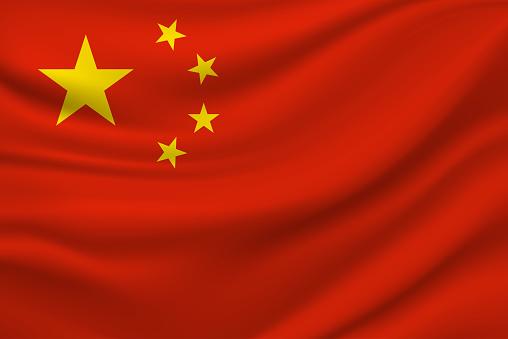China flag. Vector