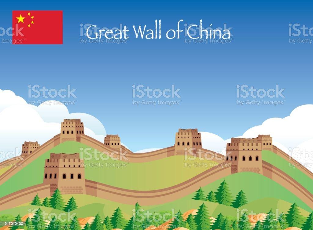 China Gread Wall vector art illustration