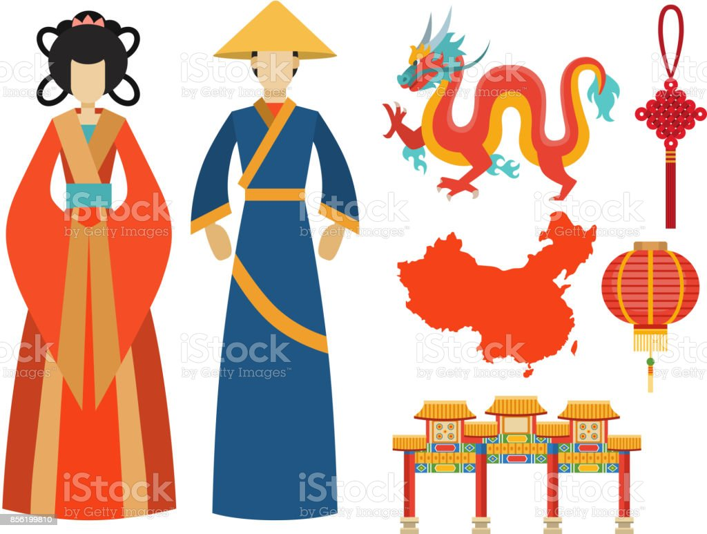 China Icons East Ancient Famous Oriental Culture Chinese Traditional