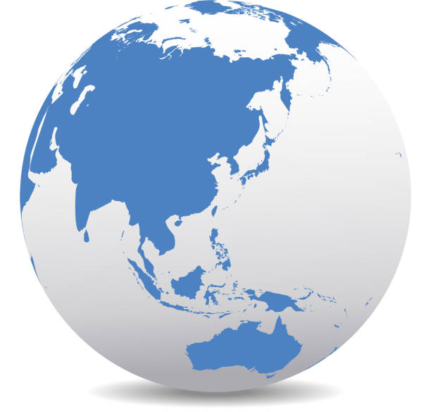 中国、日本、マレーシア、タイ、インドネシア、グローバル世界 - アジア点のイラスト素材/クリップアート素材/マンガ素材/アイコン素材
