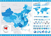 China Map and infographic elements