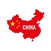 istock China map. China flag. Vector illustration. 1086605116