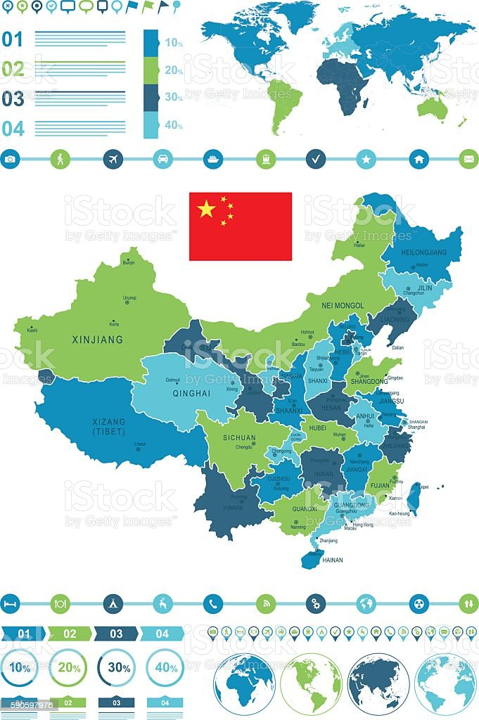 China Map Infographic Stock Vector Art & More Images of Beijing ...
