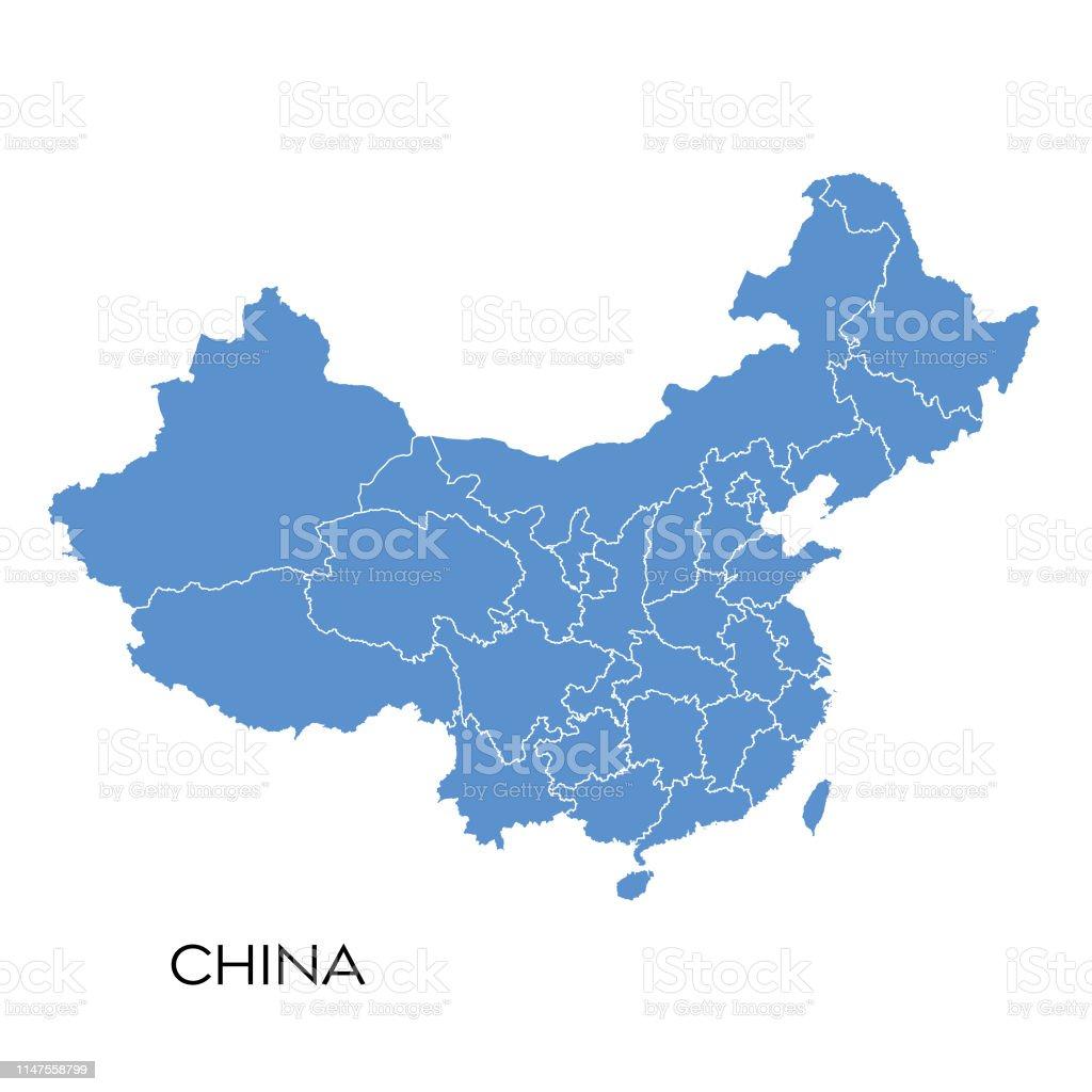 China map - Векторная графика Бизнес роялти-фри