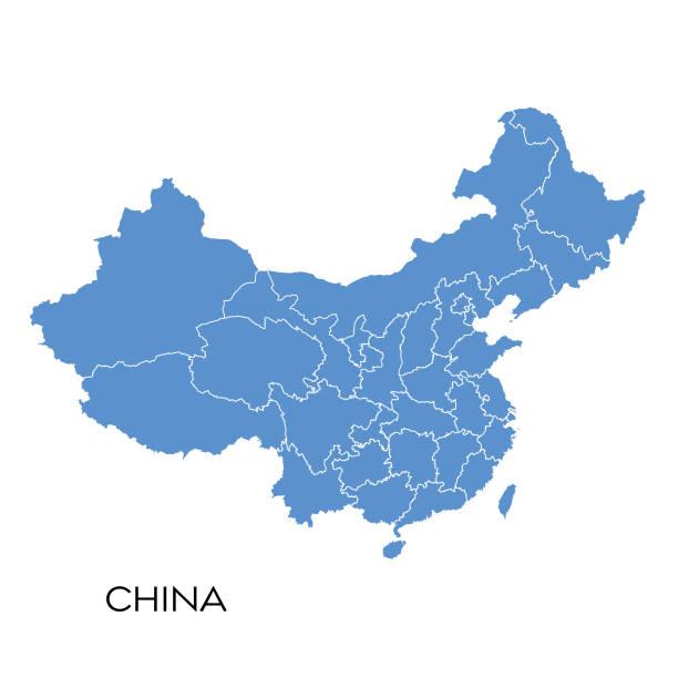 China map Vector illustration of the map of China china stock illustrations